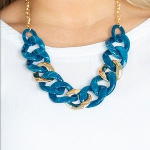 "New! Paparazzi ""I Have A Haute Date"" Blue Necklace"